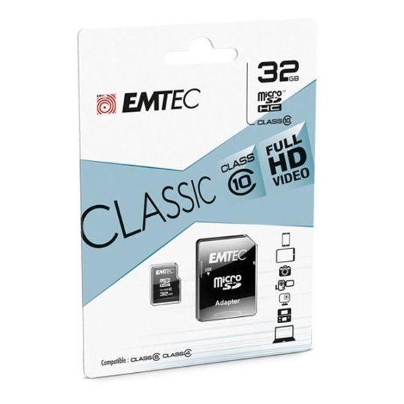 EMTEC 32 GB microSD CLASS 10 memóriakártya autós kamerákhoz